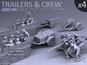 Trailers & Crew : Add-on (4 pack) in Smooth Fine Detail Plastic