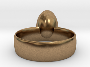 Egg ring! size 8 in Natural Brass