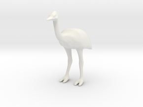Ostrich in White Natural Versatile Plastic