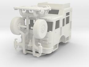 Tiller Rescue Cab 1/87 in White Natural Versatile Plastic