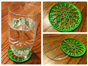 "3-1/4"" Coaster 7 (Insert) in Green Processed Versatile Plastic"