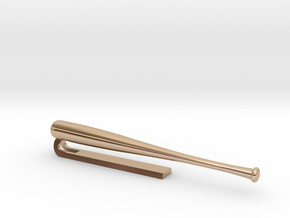 Tie Clip1 - Part 1 in 14k Rose Gold Plated Brass