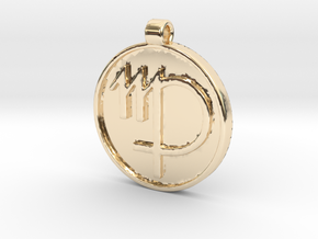 Zodiac KeyChain Medallion-VIRGO in 14K Yellow Gold