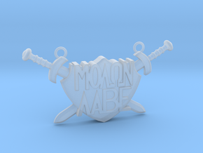 'Molon Labe' Pendant in Smooth Fine Detail Plastic