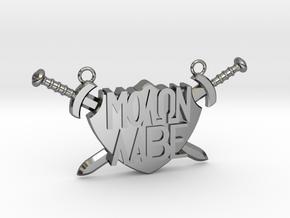 'Molon Labe' Pendant in Fine Detail Polished Silver