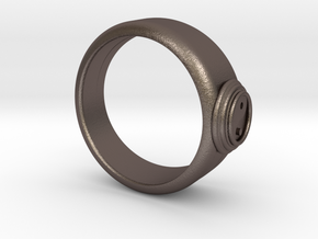 Ø0.800 inch/Ø20.32 Mm Ying Yang Model in Polished Bronzed Silver Steel