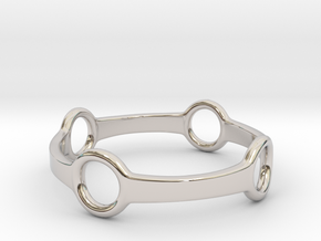 Four Ring Ring in Rhodium Plated Brass: 5 / 49