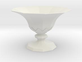 Goblet 4d in White Natural Versatile Plastic