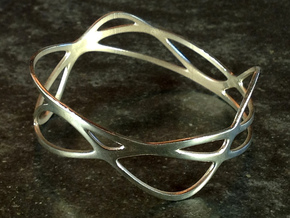 Harmonic Bracelet (67mm) in Raw Aluminum