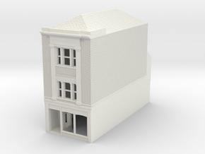RHS-8 N Scale Rye High Street building 1:148 in White Natural Versatile Plastic