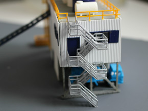 N Scale Concrete Plant Stairs 60.2mm in Smooth Fine Detail Plastic