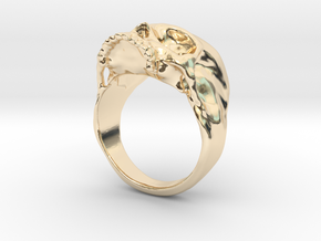 The Original Jawless Skull Ring in 14k Gold Plated Brass