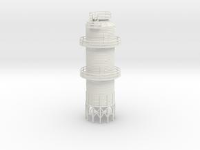 'N Scale' - Grain Dryer - 18' dia. - 67' tall in White Natural Versatile Plastic