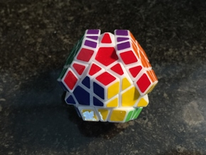 Pocket Megaminx in White Natural Versatile Plastic