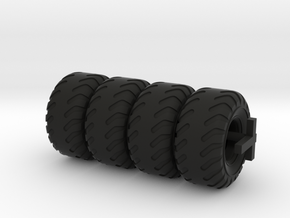 Bumper Tire For Tugboat 28 Mm in Black Natural Versatile Plastic