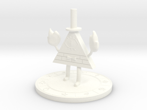 Bill Cipher [Gravity Falls] in White Strong & Flexible Polished