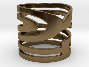 NUMBER 2 RING Size 7 in Polished Bronze