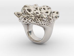 Nebula Ring in Rhodium Plated Brass