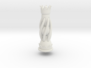 Galaxy Chess - Queen Black in White Natural Versatile Plastic