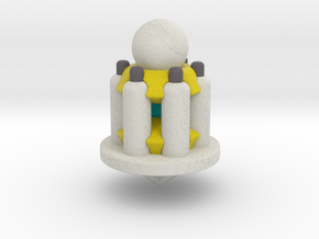 Galaxy Chess - Pawn White in Full Color Sandstone