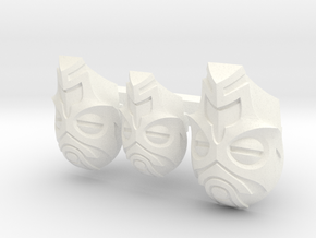 FOD-03-Fantasy Masks Pack for 6'' and 7'' Figures in White Processed Versatile Plastic