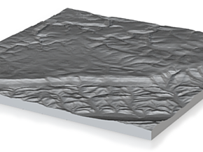 Model of North Run in Natural Sandstone
