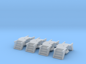 4 Pack N Scale PRR Steps for Lima/MP Cars in Smoothest Fine Detail Plastic