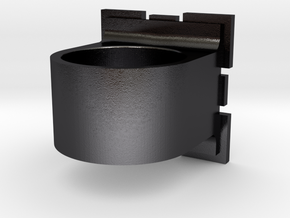 Compainion Cube Ring in Polished and Bronzed Black Steel