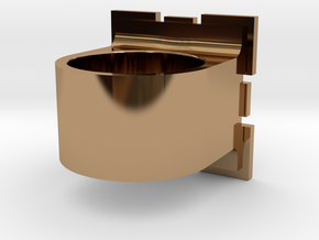 Compainion Cube Ring in Polished Brass