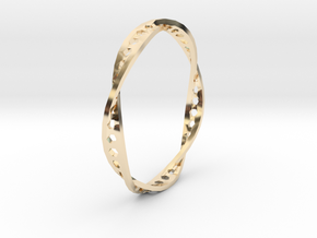 Twisted Hex Ring (Size 7) in 14K Yellow Gold