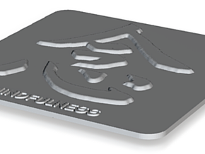 Mindfulness Plaque in Polished Bronzed Silver Steel
