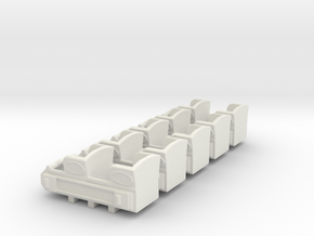 "1890""s coaster cars HO scale in White Strong & Flexible"