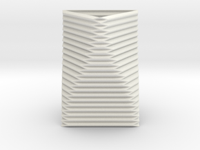 Curved Structure Short Column - Rigid Accordion in White Natural Versatile Plastic