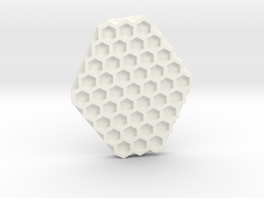 Hexa stamp tool in White Processed Versatile Plastic