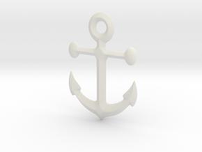 Anchor pendant in White Natural Versatile Plastic