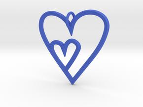Heart Mother Child Pendant in Blue Processed Versatile Plastic