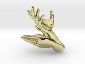 Deer - Hand Shadows in 18K Gold Plated