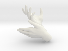 Deer - Hand Shadows in White Natural Versatile Plastic
