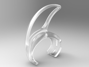 Ear pod attachment for sports in Smooth Fine Detail Plastic