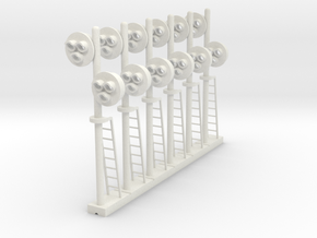 Target Signal Double 3 Light(x6) - HO 87:1 Scale in White Natural Versatile Plastic