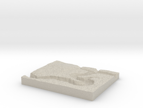 Model of Horseshoe Bend in Natural Sandstone