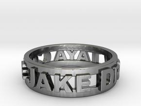Custom 3D Printed Ring (Request Custom Link Below) in Fine Detail Polished Silver