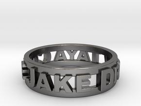 Custom 3D Printed Ring (Request Custom Link Below) in Polished Nickel Steel