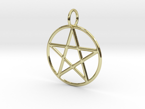 Pentacle Pendant in 18k Gold Plated Brass