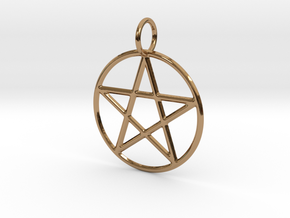 Pentacle Pendant in Polished Brass
