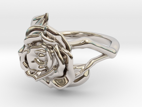 RosetteSize7.5 in Rhodium Plated Brass