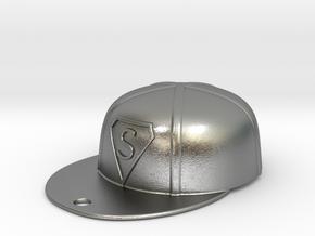 Baseball Cap in Natural Silver