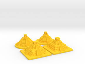 SOL Pyramids (4 pcs) in Yellow Strong & Flexible Polished