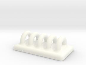 Holdme D in White Processed Versatile Plastic