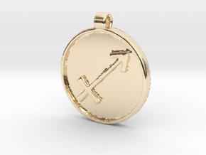 Zodiac KeyChain Medallion-SAGITTARIUS in 14K Yellow Gold